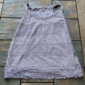 Maurices brand Purple Lace Front Tank Top L